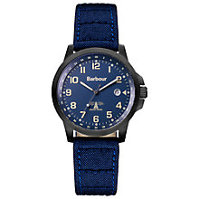 Buy Barbour BB020BKNV Men's Swale Watch, Blue Online at johnlewis.com