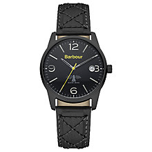 Buy Barbour BB026BKBK Men's Alanby Watch, Black Online at johnlewis.com