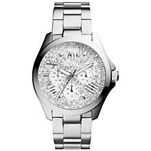 Buy Fossil Am4601 Women's Cecile Glitz Bracelet Strap Watch, Silver Online at johnlewis.com
