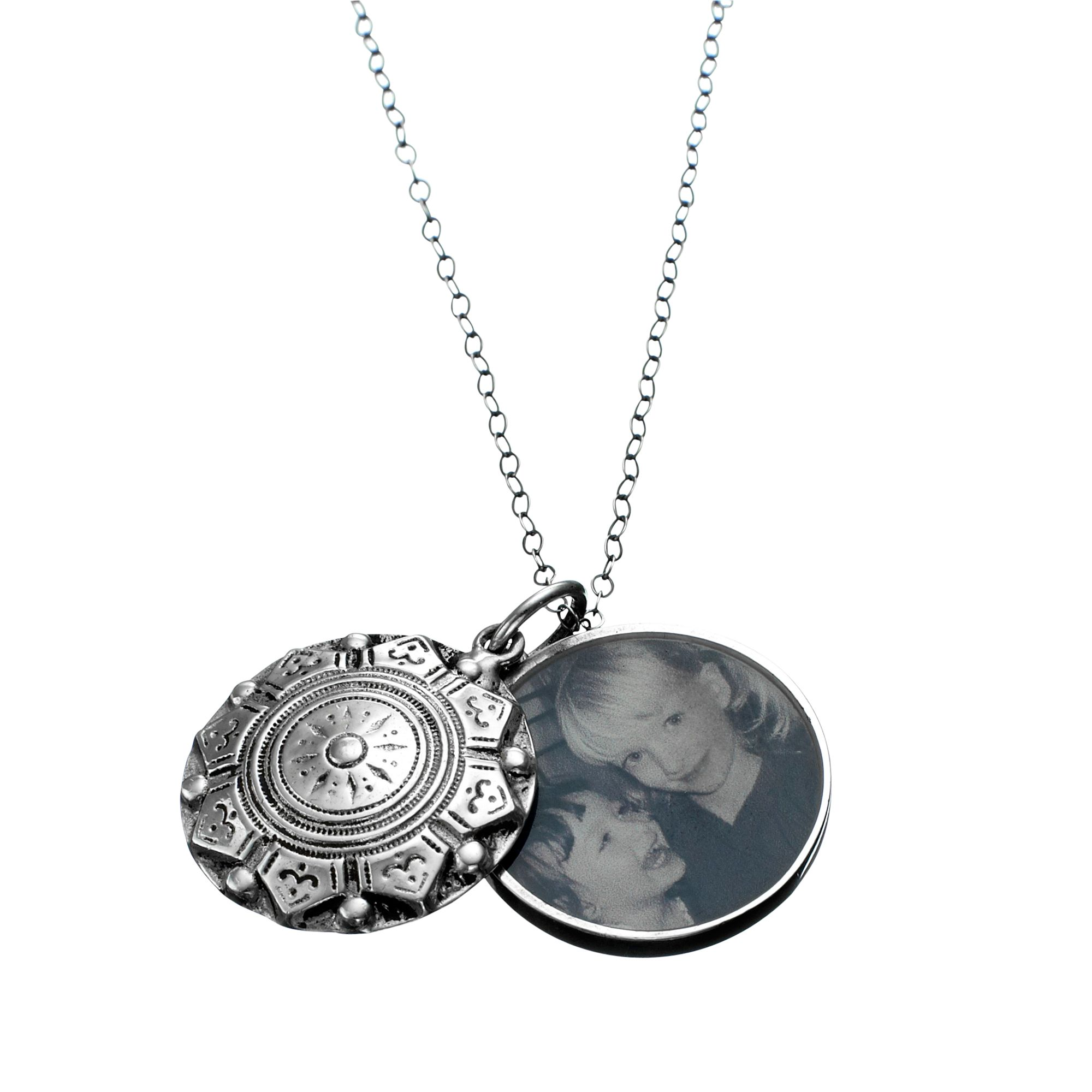 Under The Rose Under the Rose Swing Locket with Photo Pendant