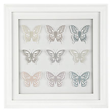 Buy John Lewis Butterfly Framed 3D Cut-out, H48 x W48cm Online at johnlewis.com