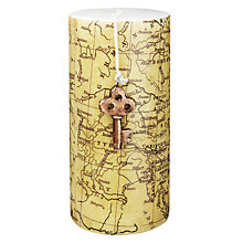 Buy John Lewis Map and Key Pillar Candle Online at johnlewis.com