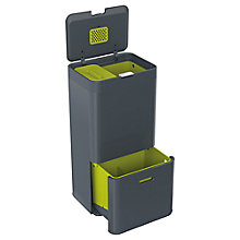 Buy Joseph Joseph Intelligent Waste Separation & Recycling Totem Bin 60L, Grey Online at johnlewis.com