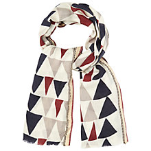 Buy White Stuff Large Geometrical Print Wool Scarf, Off White Online at johnlewis.com