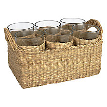 Buy John Lewis Croft Collection Glasses and Basket Set Online at johnlewis.com
