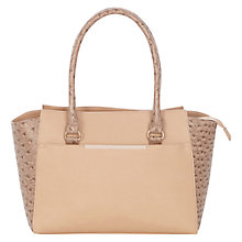 Buy Warehouse Ostrich Effect Day Bag, Neutral Online at johnlewis.com