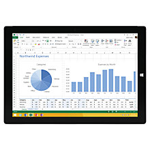 "Buy Microsoft Surface Pro 3, Intel Core i5, 4GB RAM, Windows 8.1 Pro, 12"", 128GB, Wi-Fi, Silver Online at johnlewis.com"