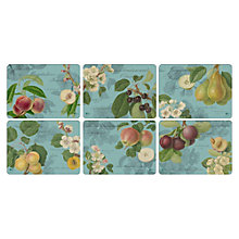 Buy Pimpernel Hooker Fruits Placemats, Set of 6 Online at johnlewis.com