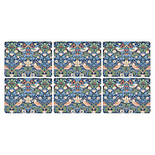 Buy Sanderson for Pimpernel Strawberry Thief Placemats, Set of 6 Online at johnlewis.com