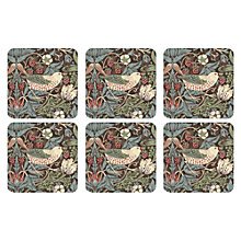 Buy Sanderson for Pimpernel Strawberry Thief Coasters, Set of 6 Online at johnlewis.com