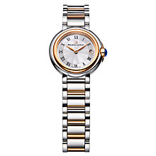 Buy Maurice Lacroix FA1003-PVP13-110 Women's Fiaba Date Dial Bracelet Strap Watch, Silver / Gold Online at johnlewis.com