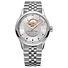 Buy Raymond Weil 2710-ST5-65021 Men's Freelancer Automatic Bracelet Strap Watch, Silver Online at johnlewis.com