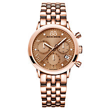 Buy 88 Rue Du Rhone 87WA130033 Women's Double 8 Origin Chronograph Watch, Rose Gold / Brown Online at johnlewis.com