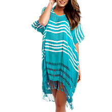 Buy Seafolly Utopia Stripe Kaftan, One Size, Indigo Online at johnlewis.com