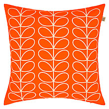 Buy Orla Kiely Linear Stem Cushion, Persimmon Online at johnlewis.com
