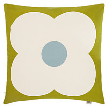 Buy Orla Kiely Abacus Flower Cushion, Duck Egg / Apple Online at johnlewis.com