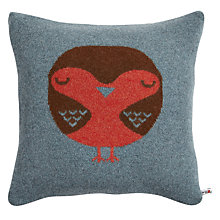 Buy Donna Wilson Knitted Robin Cushion, Teal Online at johnlewis.com