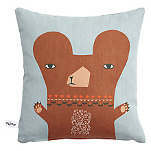 Buy Donna Wilson Printed Little Bear Cushion, Grey/Brown Online at johnlewis.com