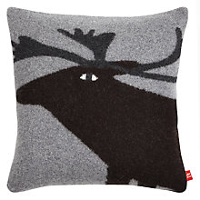 Buy Donna Wilson Reindeer Cushion, Grey/Black Online at johnlewis.com
