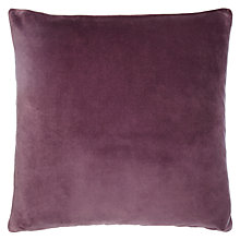 Buy John Lewis Velvet and Linen Cushion, Fig Online at johnlewis.com