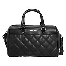 Buy Mango Quilted Faux Leather Tote Bag, Black Online at johnlewis.com