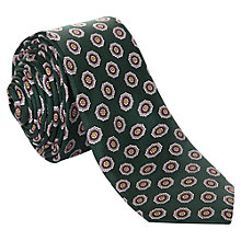 Buy Ben Sherman Tailoring Retro Print Silk Tie, Green Online at johnlewis.com