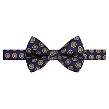 Buy Ben Sherman Tailoring Floral Print Bow Tie, Navy Online at johnlewis.com