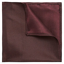 Buy Ben Sherman Tailoring Silk Pocket Square, Oxblood Online at johnlewis.com