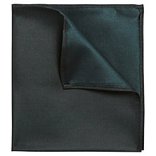 Buy Ben Sherman Tailoring Plain Silk Pocket Square, Black Online at johnlewis.com