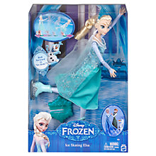 Buy Disney Frozen Ice Skating Elsa Doll Online at johnlewis.com