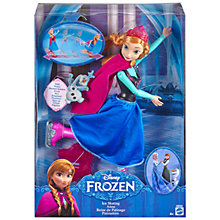 Buy Disney Frozen Ice Skating Anna Doll Online at johnlewis.com