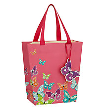 Buy John Lewis Butterflies Small Gift Bag, Pink Online at johnlewis.com