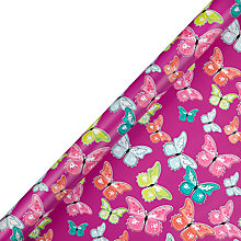 Buy John Lewis Tropical Butterflies Gift Wrap, 3m Online at johnlewis.com