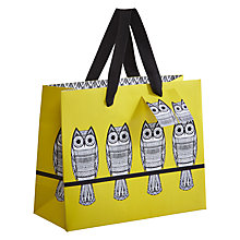 Buy Art File Owls Landscape Gift Bag, Yellow Online at johnlewis.com
