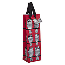Buy Art File Owls Bottle Gift Bag, Red Online at johnlewis.com