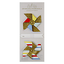 Buy Meri Meri Spinning Pinwheels Gift Tags, Pack of 2 Online at johnlewis.com