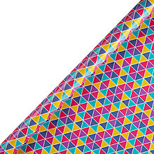 Buy John Lewis Bright Multi Triangles Gift Wrap Online at johnlewis.com