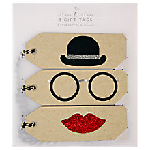 Buy Meri Meri Bowler Hat Gift Tags, Pack of 3 Online at johnlewis.com