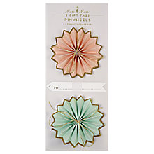 Buy Meri Meri Pinwheels Gift Tags, Pack of 2 Online at johnlewis.com