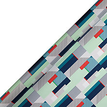 Buy House by John Lewis Geometric Gift Wrap, 3m Online at johnlewis.com