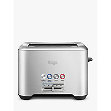 Buy Sage by Heston Blumenthal A Bit More 2-Slice Toaster, Brushed Metal Online at johnlewis.com