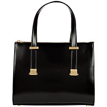 Buy Ted Baker Danika Leather Mini Bowler Bag, Black Online at johnlewis.com