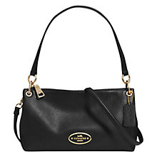 Buy Coach Charley Mini Leather Across Body Bag, Black Online at johnlewis.com