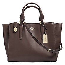 Buy Coach Crosby Leather Shoulder Bag, Brown Online at johnlewis.com