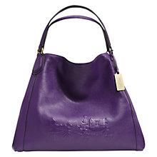 Buy Coach Edie Large Embossed Leather Shoulder Bag Online at johnlewis.com