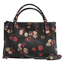 Buy Coach Borough Leather Floral Print Shoulder Bag, Black Online at johnlewis.com