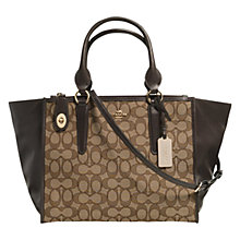 Buy Coach Crosby Carryall Signature Leather Shoulder Bag, Multi Online at johnlewis.com