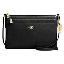 Buy Coach Embossed Leather Swingpack Across Body Bag Online at johnlewis.com