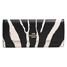 Buy Coach Embossed Leather Wallet, Zebra Online at johnlewis.com