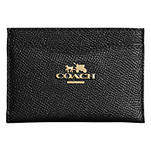Buy Coach Embossed Leather Flat Card Case Online at johnlewis.com